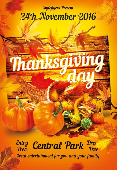 Thanksgiving Free Flyer Template Httpfreepsdflyer