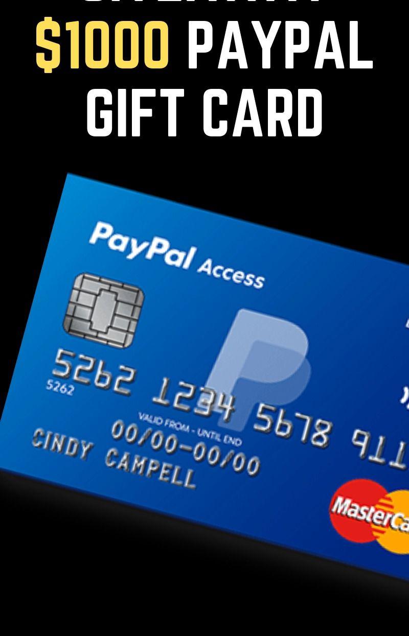 1000 Paypal Gift Card Paypal Gift Card Cash Gift Card Gift Card Deals
