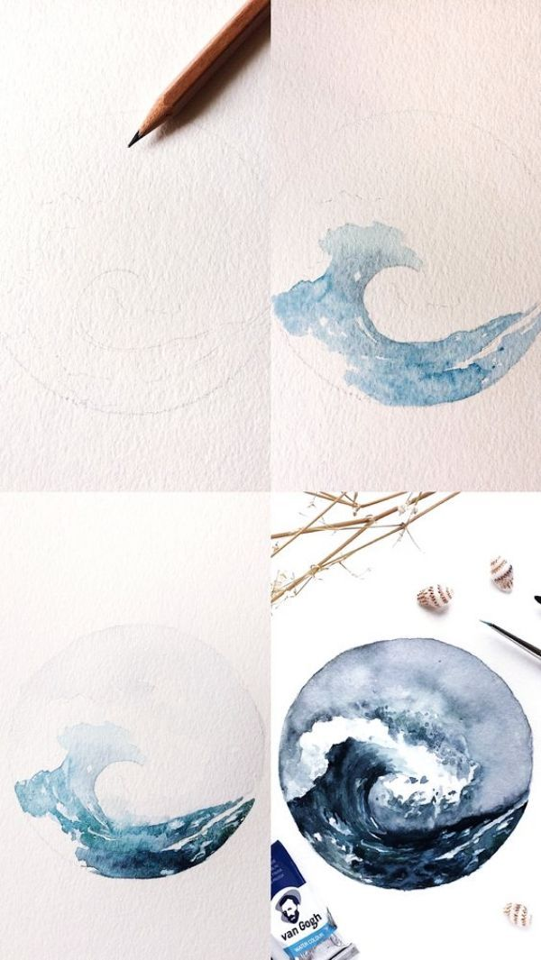 35 Schritt für Schritt Tutorials zur Aquarellmalerei für Anfänger – Free Jupiter – Indispensable address of art