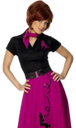 Smiffys Retro 50s Party Poodle Skirt Dress Sock Hop Costume M Amazon Clothing