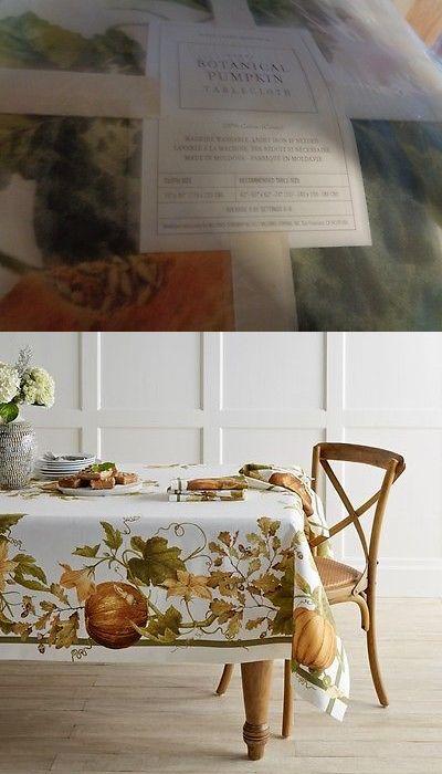 Tablecloths 20663: Williams Sonoma Botanical Pumpkin Tablecloth 70 X 90 New   U003e BUY IT