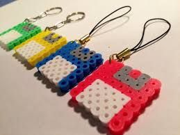 Resultado de imagen para perler beads keychain