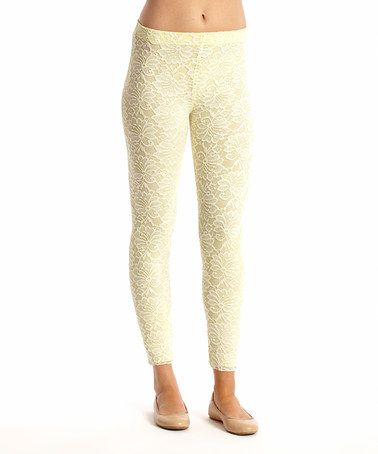 This Citrus Lace Floral Leggings by Saga is perfect! #zulilyfinds