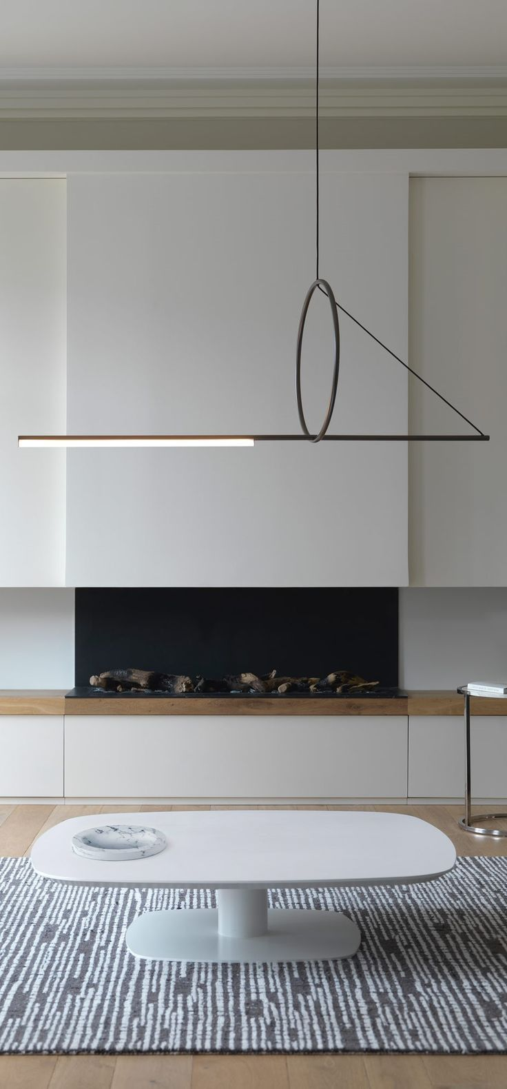Modish Bathroom Lighting Ideas With Modern Concept: Geometric Suspension Pendant Gives Minimalist Vibe To