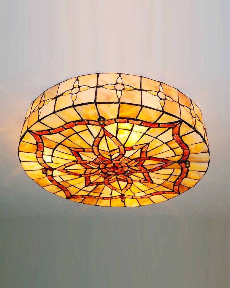 Tiffany Geometry Flush Mounts Lamp Round Drum Sea Shell Shade $195.99 http://www.parrotuncle.com/tiffany-geometry-flush-mounts-lamp-round-drum-sea-shell-shade-cyhcl-1805.html