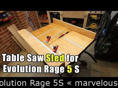 Table noticed sled for Evolution Rage 5S  original  Table noticed sled for Evolution Rage 5S  original projects  apartment  projects for the home  dyi  diy