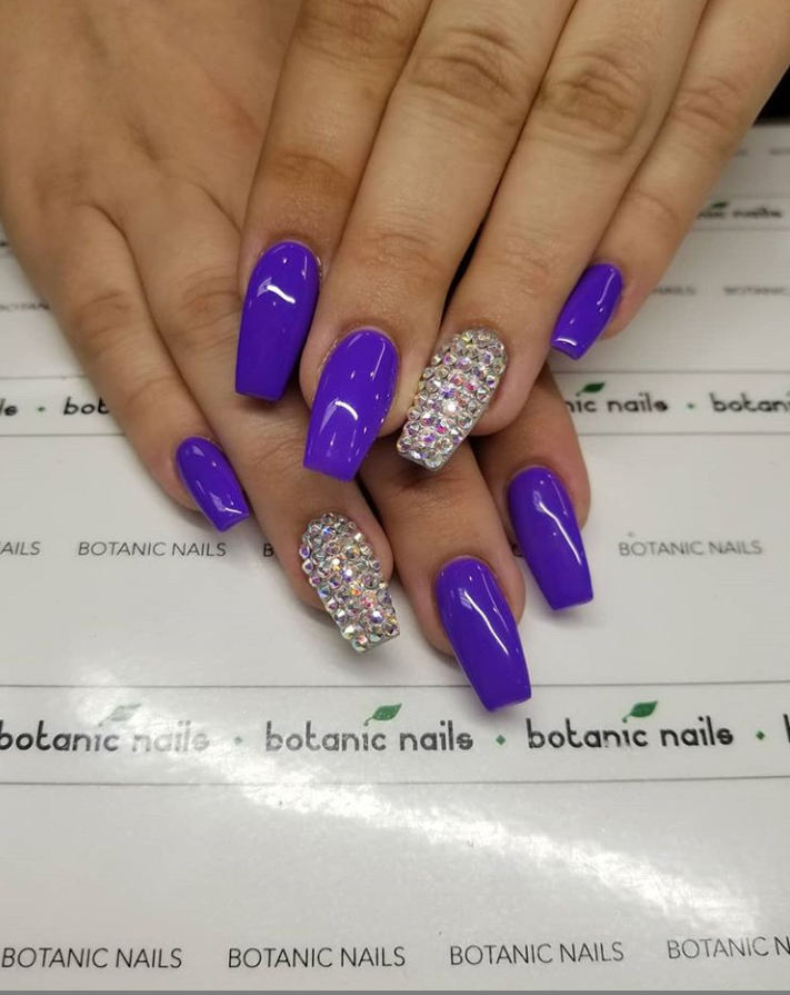 60 Gorgeous Acrylic Purple Nails Art Design Ideas Page 32 Of 62 Latest Fashion Trends For Woman Purple Nail Art Designs Purple Nail Art Purple Nails
