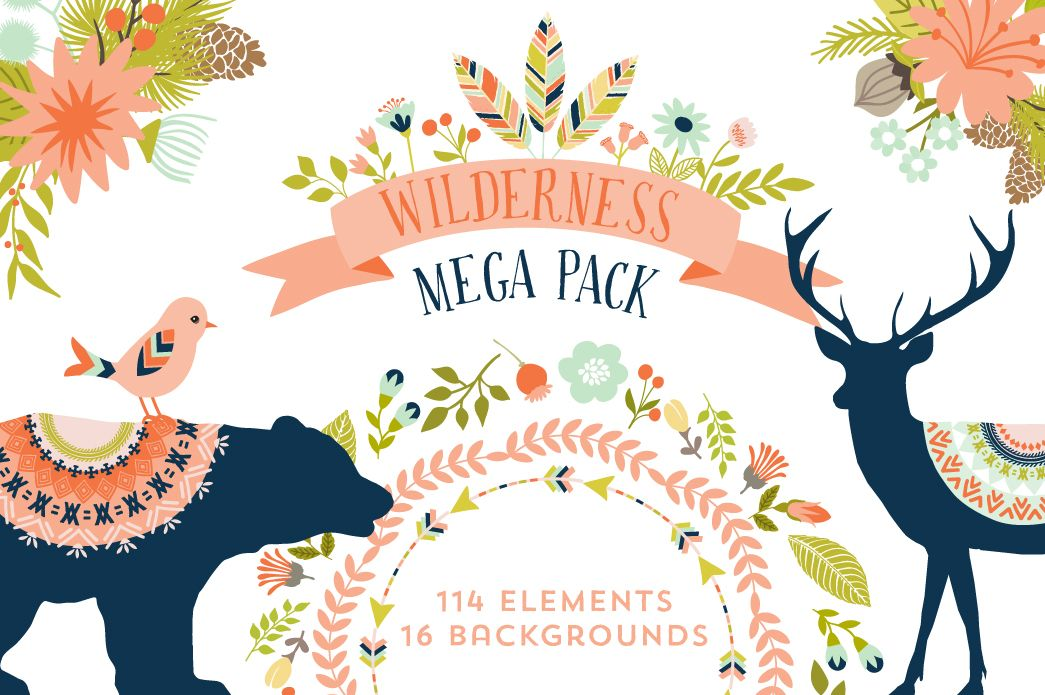 Wilderness Mega Pack by Cocoa Mint on Creative Market