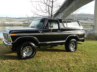 1979 Ford Bronco Ranger Xlt 4x4 Black On Black Very Clean 30 Pics