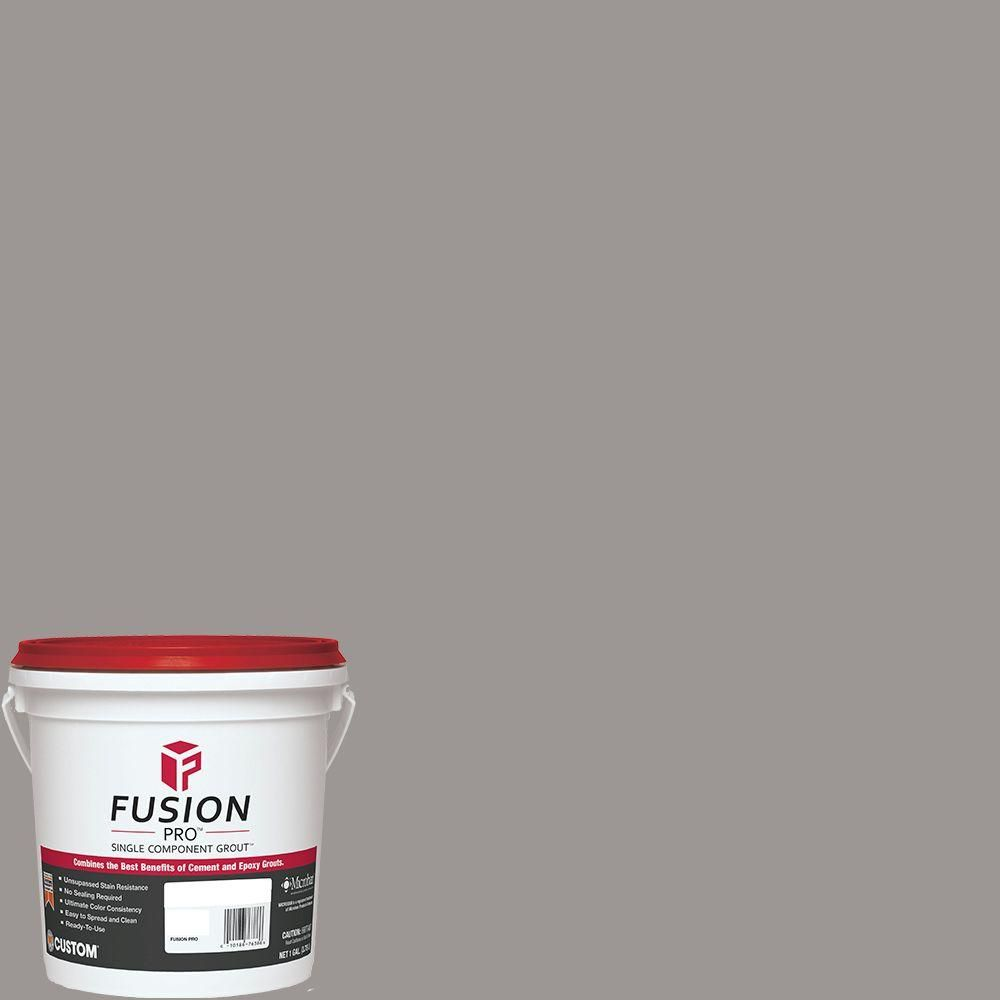 Custom Building Products Fusion Pro 165 Delorean Gray 1 Gal Single Component Grout Fp1651 2t The Home D Slate Flooring Mosaic Flooring Floor And Wall Tile
