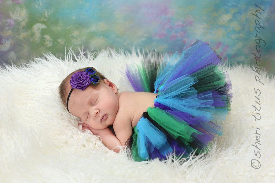 Baby Tutu  Newborn Tutu  Matching Headband by BellaBlossomShop, $36.95
