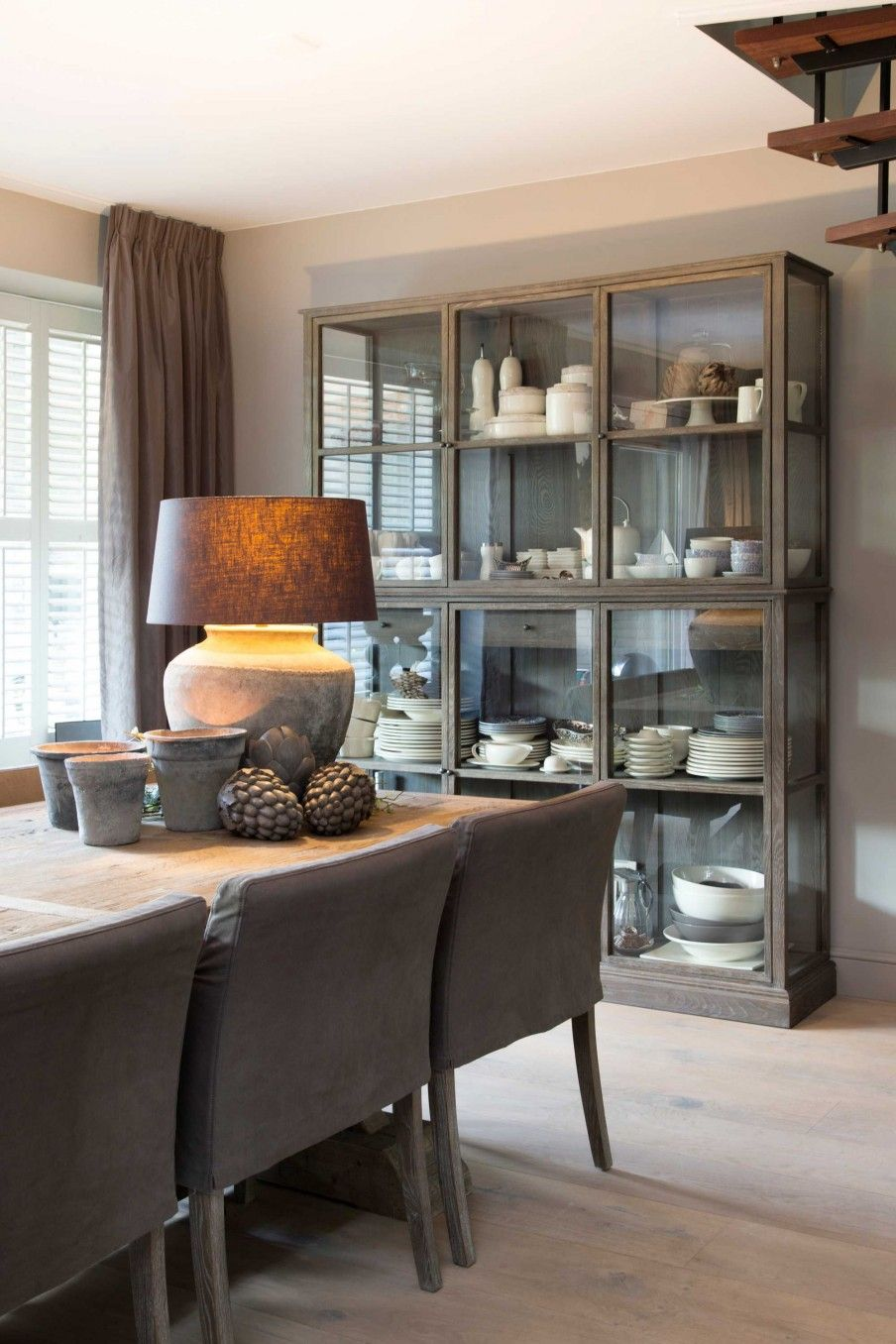 eetkamer-tafel-kast-rijhuis | Ideas for the House | Pinterest ...