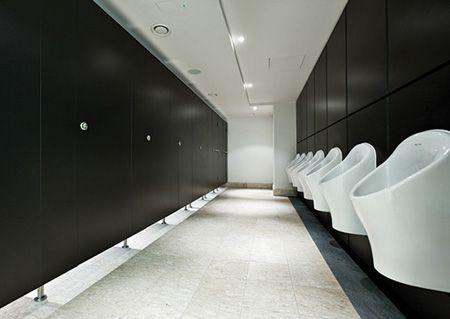 Office washroom google office toilet pinterest for Office building bathroom design