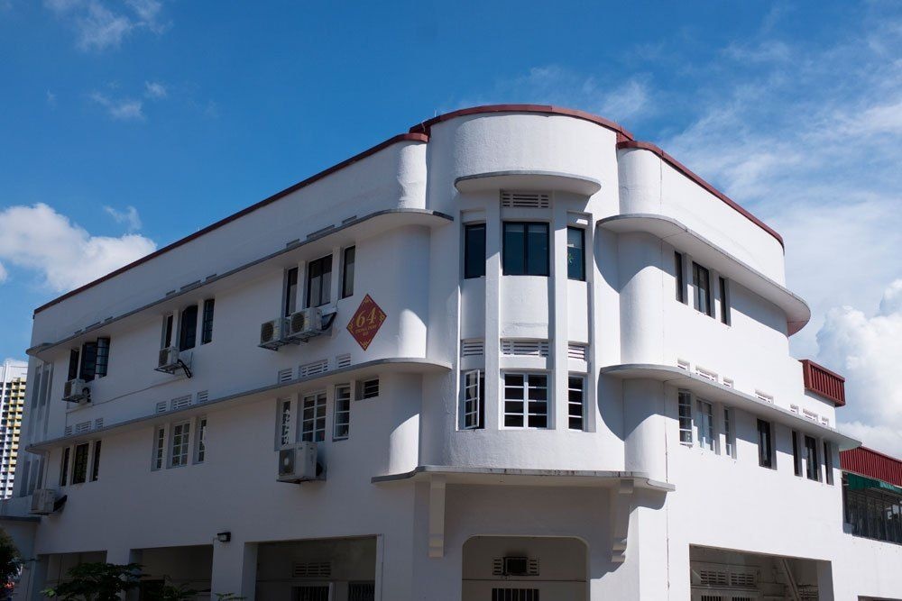 A Building depicting the Art-Deco Style Architecture of Tiong Bahru