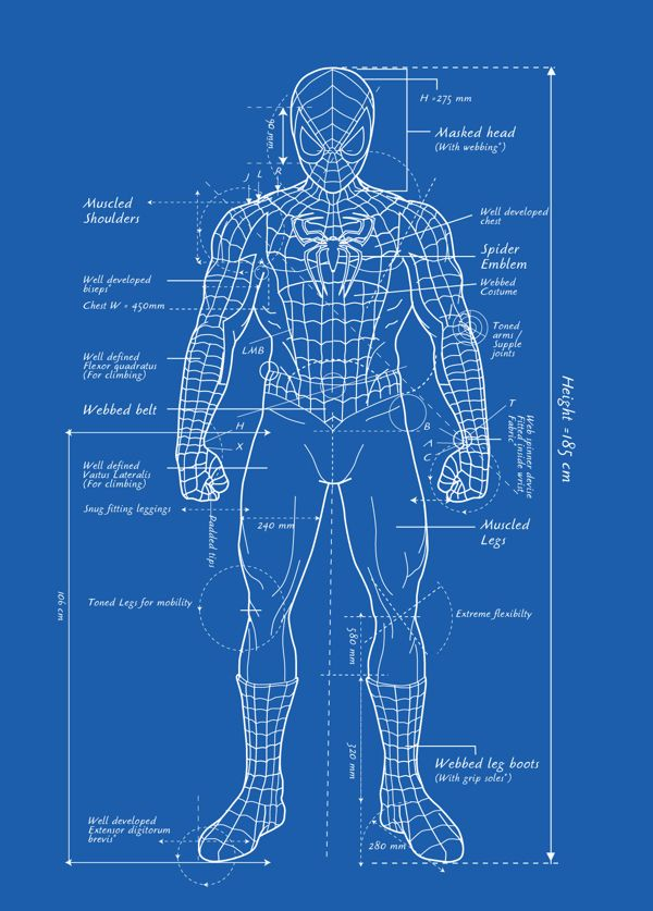 Spider-Man Blueprint | Blueprints | Pinterest