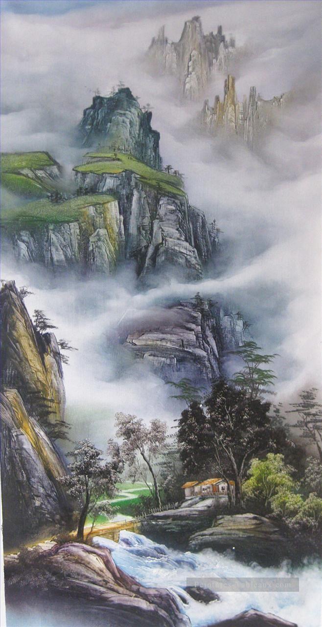 Montagnes traditionnelles Paysages de Chine Peinture ...