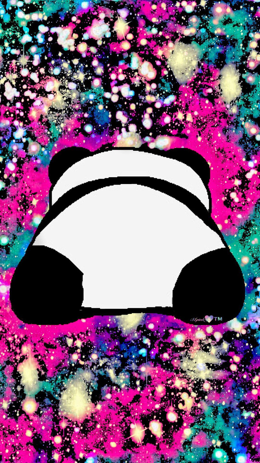 Cute Panda Galaxy Wallpaper Androidwallpaper Iphonewallpaper Wallpaper Galaxy Sparkle Glit Cute Animal Drawings Kawaii Panda Wallpapers Colorful Drawings