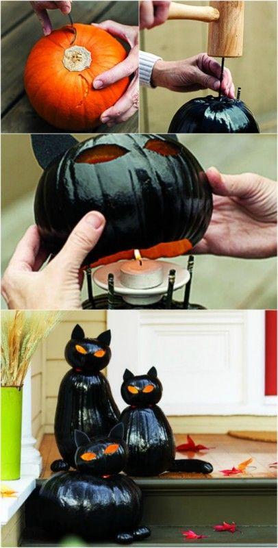 40 Easy to Make DIY Halloween Decor Ideas DIY Halloween Decor - halloween decorations black cat