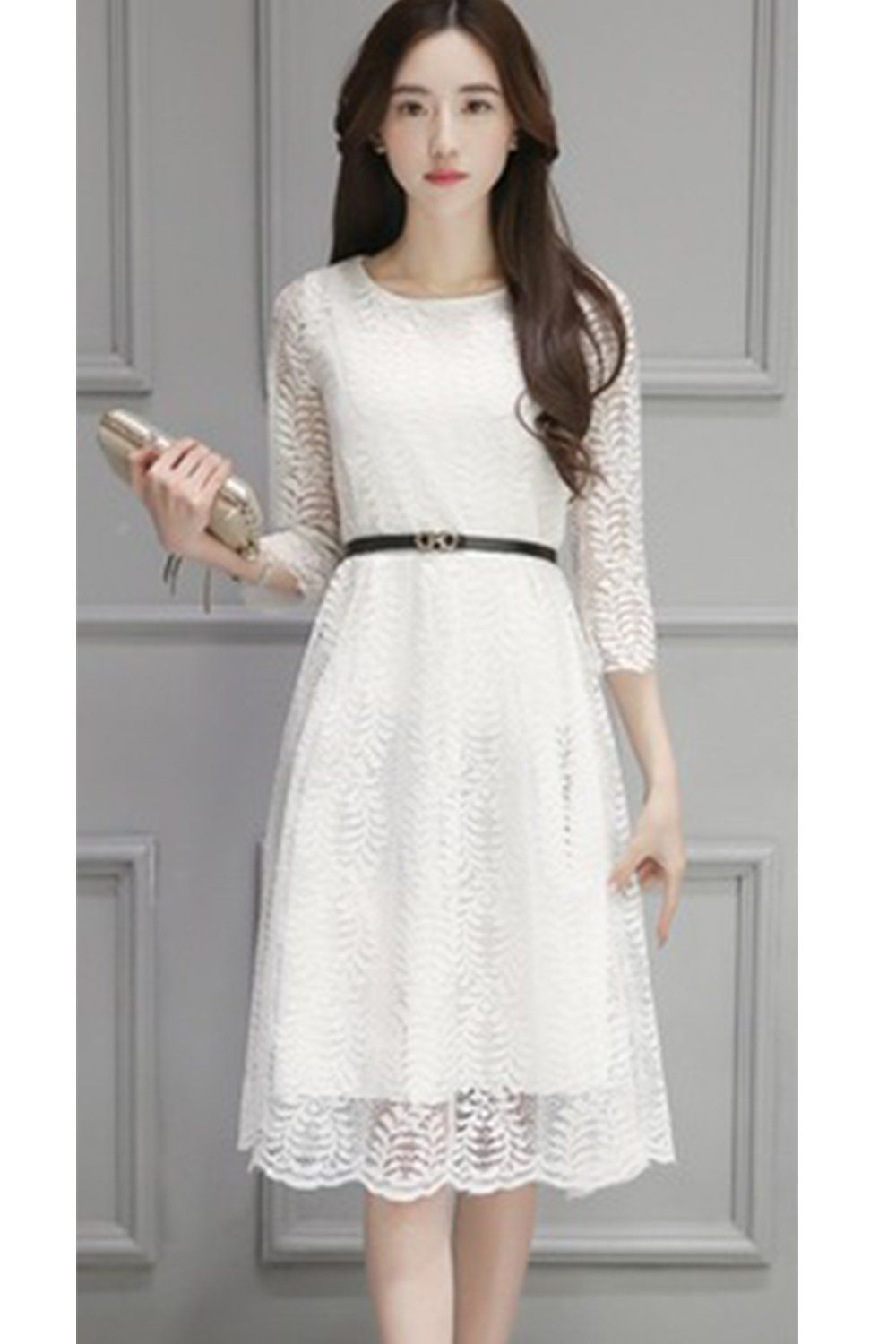ac1d2da4adb Zumeet Women Decorated Fern Leaves Party Lace Dress White Small White --  Continue to the product at the image link. (This is an affiliate link)   ...