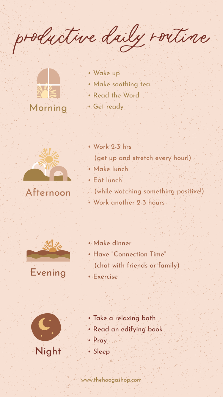 Productive Daily Routine Ideas — The Hooga Shop