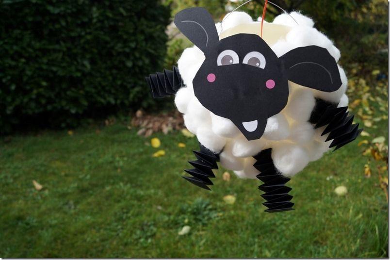 Laterne Basteln Aus Luftballon Shaun Das Schaf Mit Anleitung Vorlage Laternen Basteln Laterne Basteln Luftballon Schafe Basteln