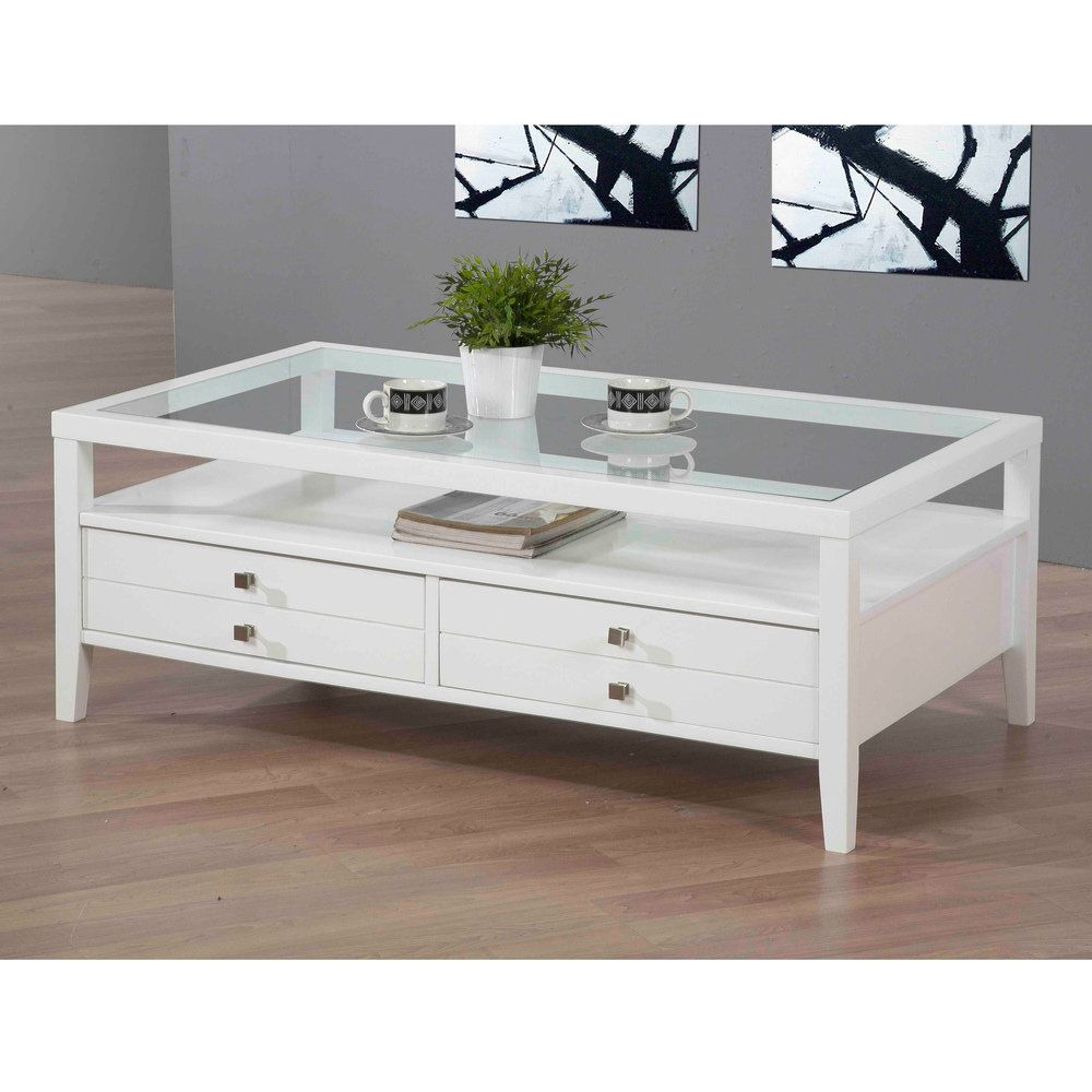 aristo gloss white coffee table