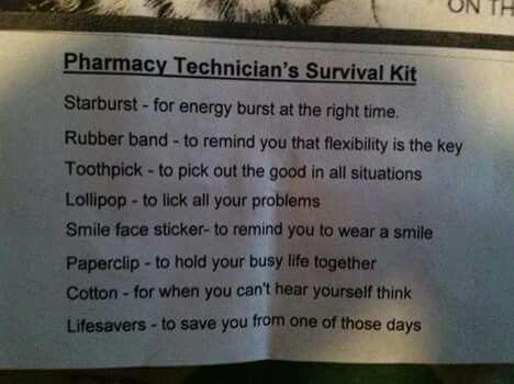4c6644e168b0c5 Pharmacy technicians survival kit | Pharmacy peeps | Pharmacy gifts ...