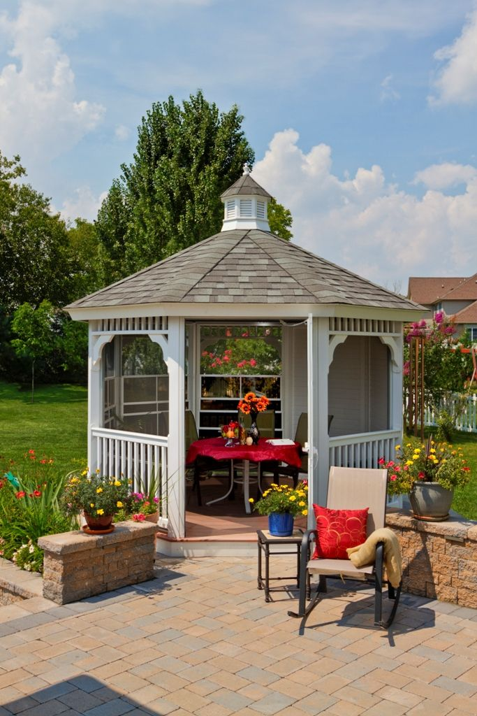 A Gazebo Would Make A Nice She Shed Add A Screen Package Why Not Ladies Sheshed Momgoals Gardening Gardendesign Backyard Renovations Patio Backyard My gazebo and bedroom wall
