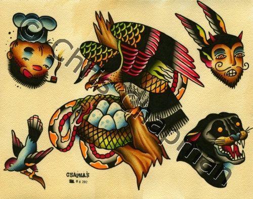 Traditional Tattoo Flash Eagle