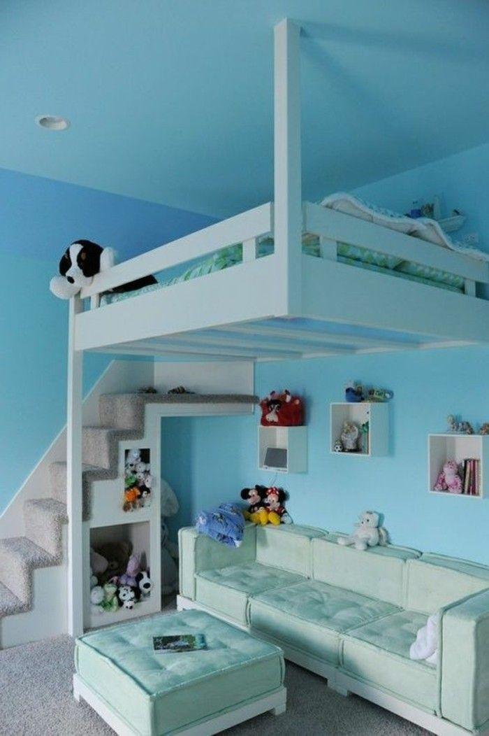 Jugendzimmer mit Hochbett: 90 Raumi