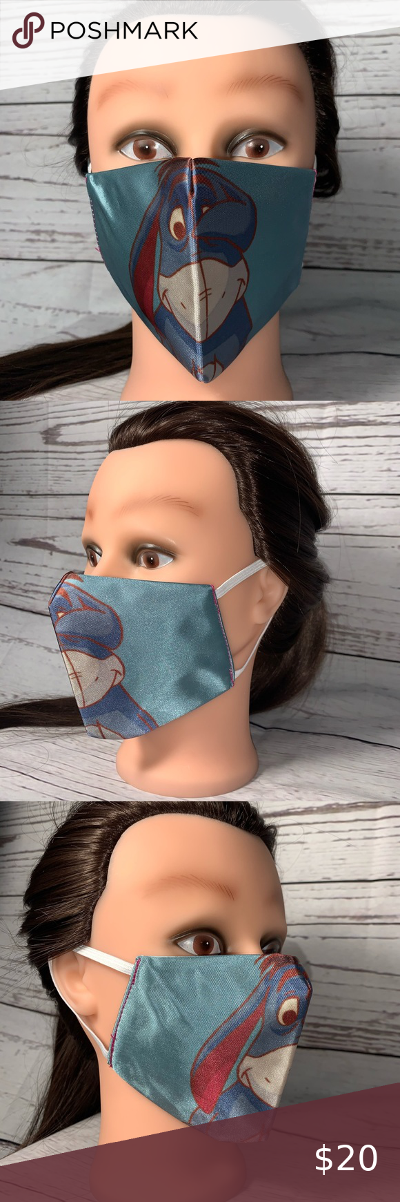 Disney Eeyore Face Mask Reusable And Washable Custom Design Face Mask New The O In 2020 Viren