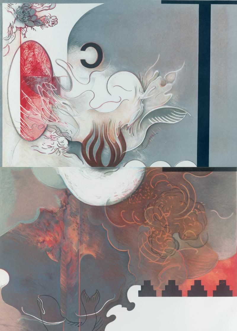 Shelley Thorstensen,Smoke and Mirrors,Printmakers Open Forum Lithograph