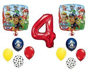 Amazon Paw Patrol Happy 4th Birthday Balloon Set Toys Games