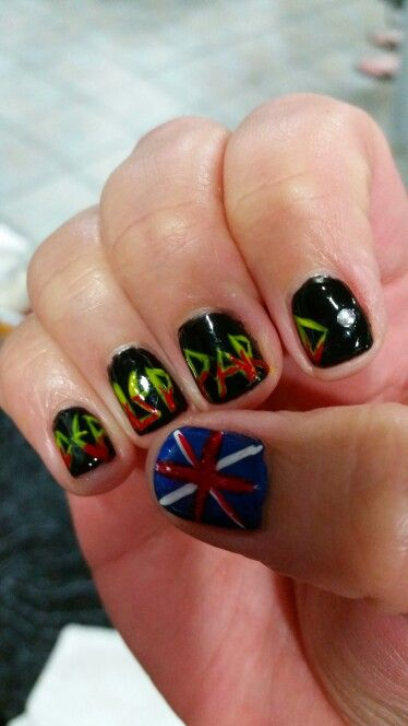 Def Leppard Nails My Nail Art I Have Done Pinterest Def Leppard