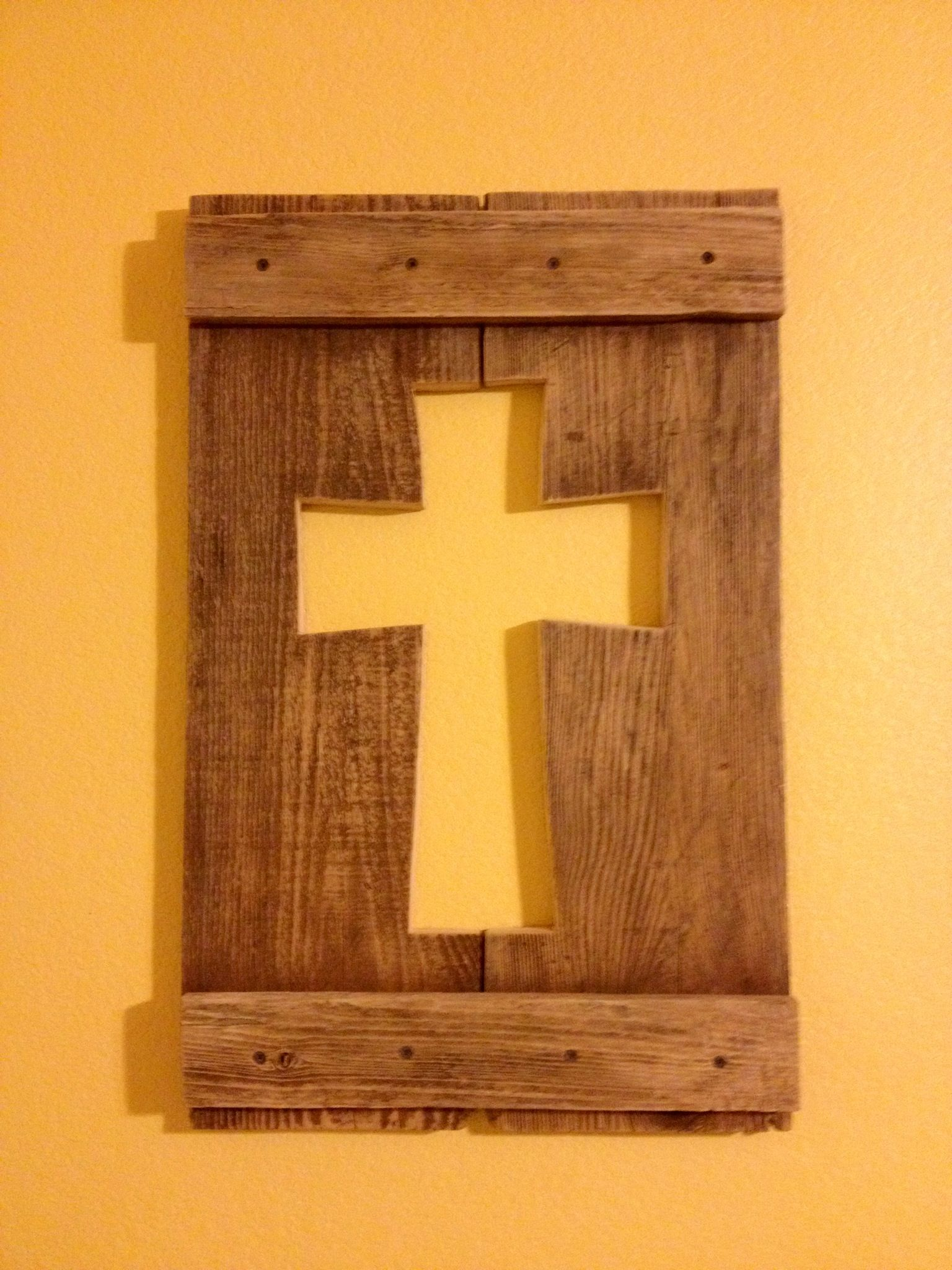 Something new i made from old fence wood crosses pinterest something new i made from old fence wood baanklon Image collections