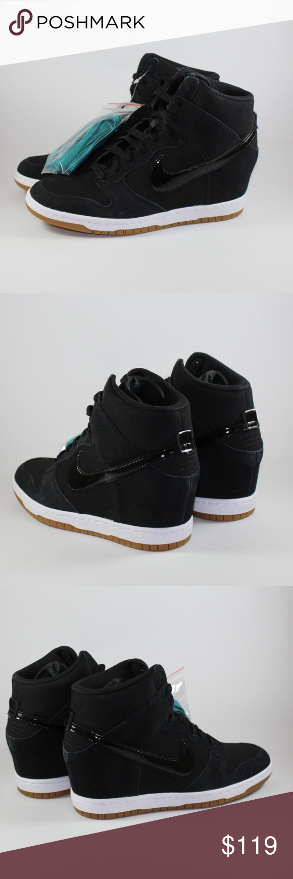 wholesale dealer 15f81 f7813 Wmns Nike Dunk Sky Hi Essential Shoes Hello and Thank you for Shopping here!!!  Up For Grabs  Wmns Nike Dunk Sky Hi Essential Shoes Black Gum Wedge Heel  Nike ...