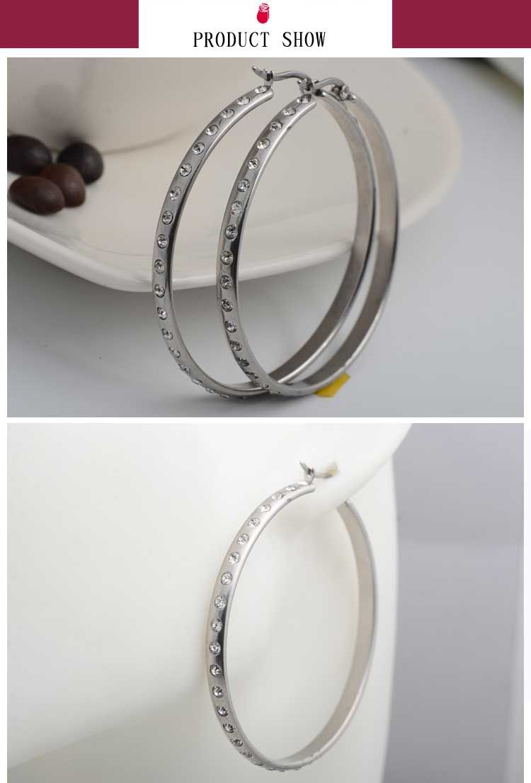 Latest Fake Diamond Shaped Hoop Earrings Designs For S
