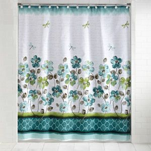 Mainstays Dragonfly Shower Curtain And Hook Set Fabric Shower