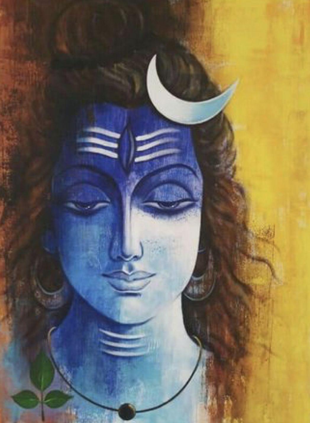 Saatchi Art Artist Indusriva Art Painting Lord Shiva Art