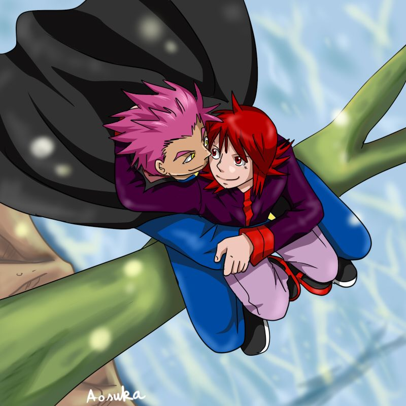 Day 2: cuddling somewhere by Aosuka on DeviantArt