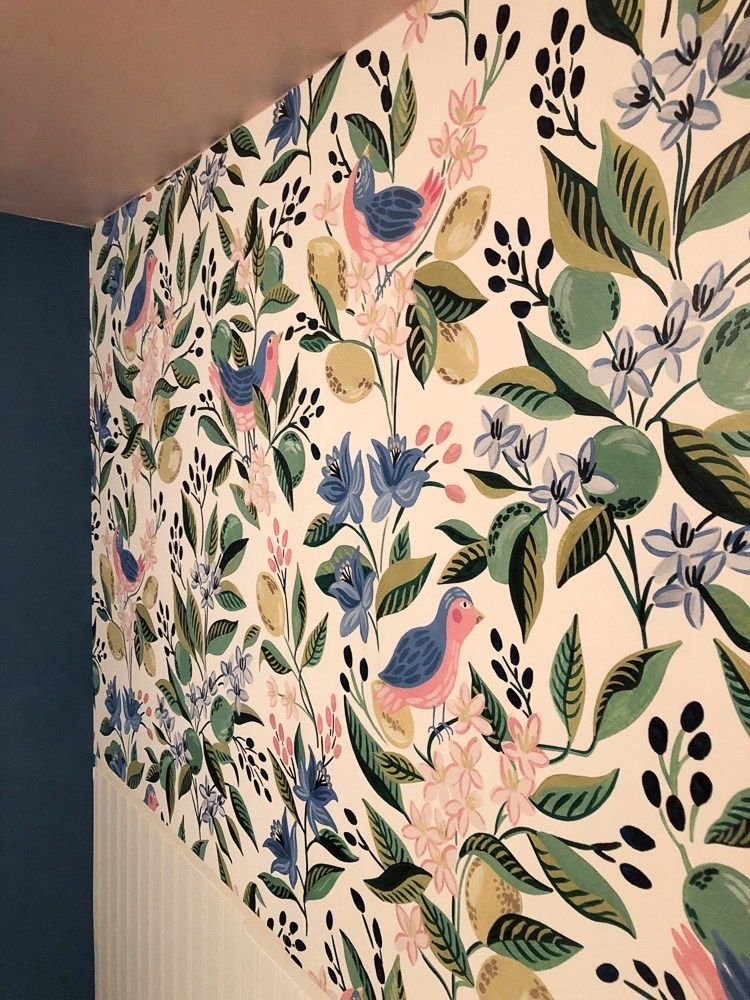 How to Wallpaper Above Wainscot   Beadboard wallpaper ...