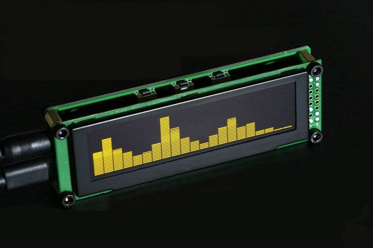 OLED audio level display kit module  It supports VU meter