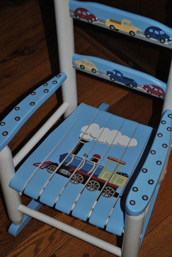 Handpainted Rocking Chairkids Rocking Chairschilds Rocking Etsy