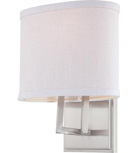 Photo of Nuvo 60/4751 Gemini 1 Light 8 inch wall lamp made of brushed nickel vanity