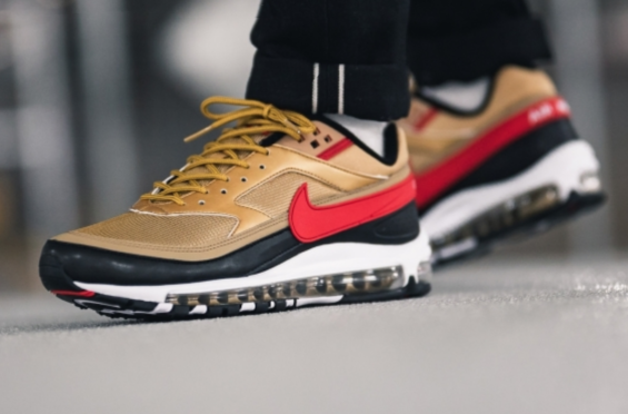 free shipping meet coupon codes Nike Air Max 97/BW Metallic Gold University Red Arriving ...