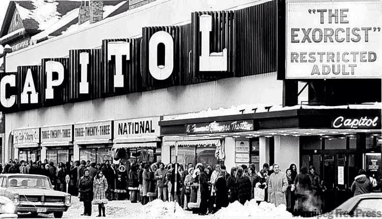"""Vintage Movie Theatre Marquee """"The Exorcist"""""""