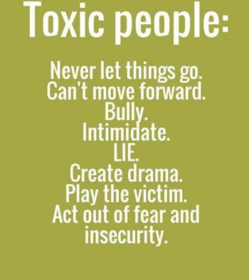 Let go of Toxic People