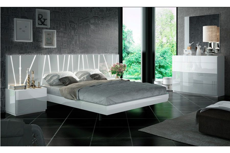 Modern Lacquer Wood White Queen Size, White Lacquer Bedroom Furniture Nz