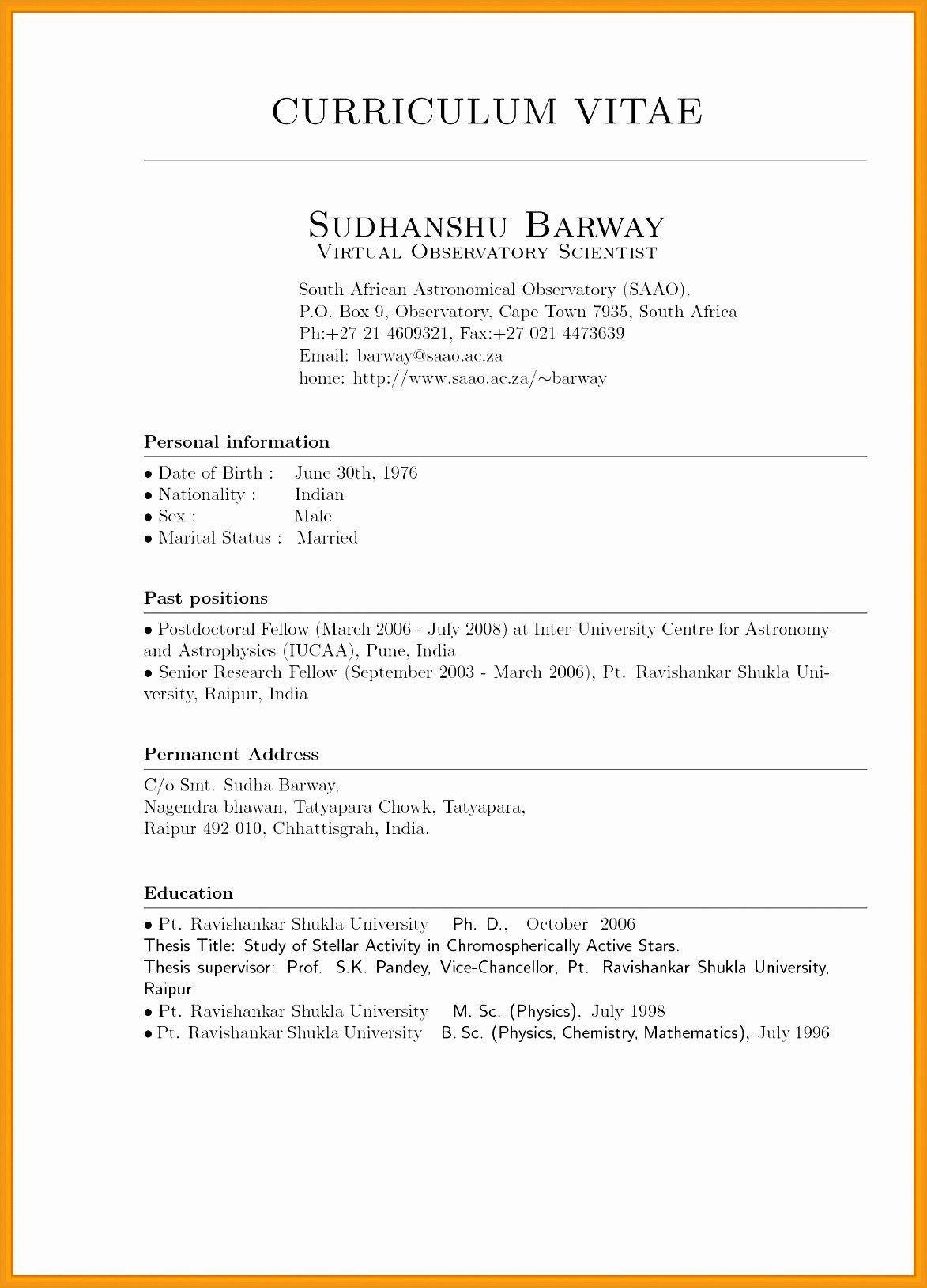 Cv template, Curriculum vitae examples, Resume format