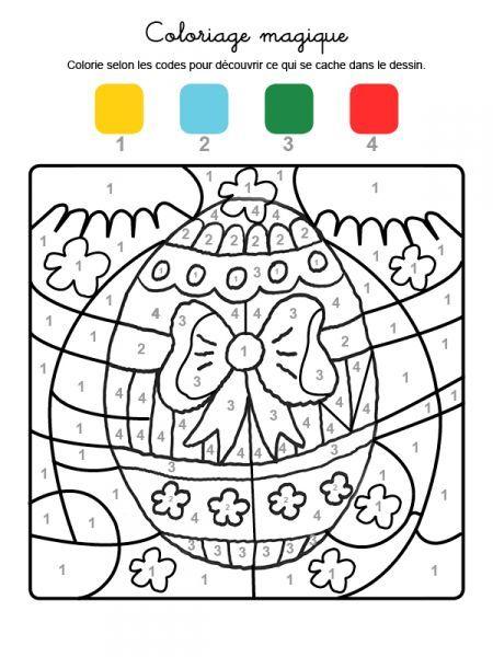 Coloriage Magique Oeuf De Paques.Coloriage Magique De Paques Avec Un Ruban Coloriage Notrefamille